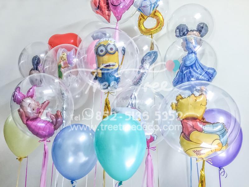 24inch crystal message cartoon balloon series